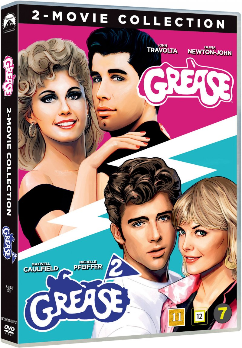 Image of   Grease 1 // Grease 2 - DVD - Film