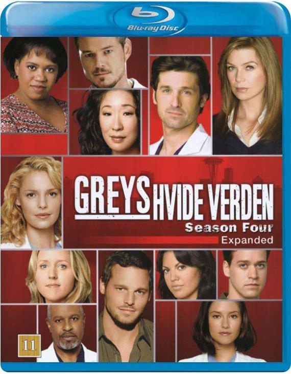 Image of   Greys Hvide Verden - Sæson 4 / Greys Anatomy - Season 4 - Blu-Ray - Tv-serie