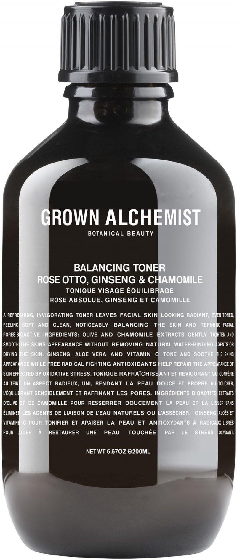 Image of   Grown Alchemist Balancing Toner - Rose Absolute, Ginseng & Chamomile 200 Ml