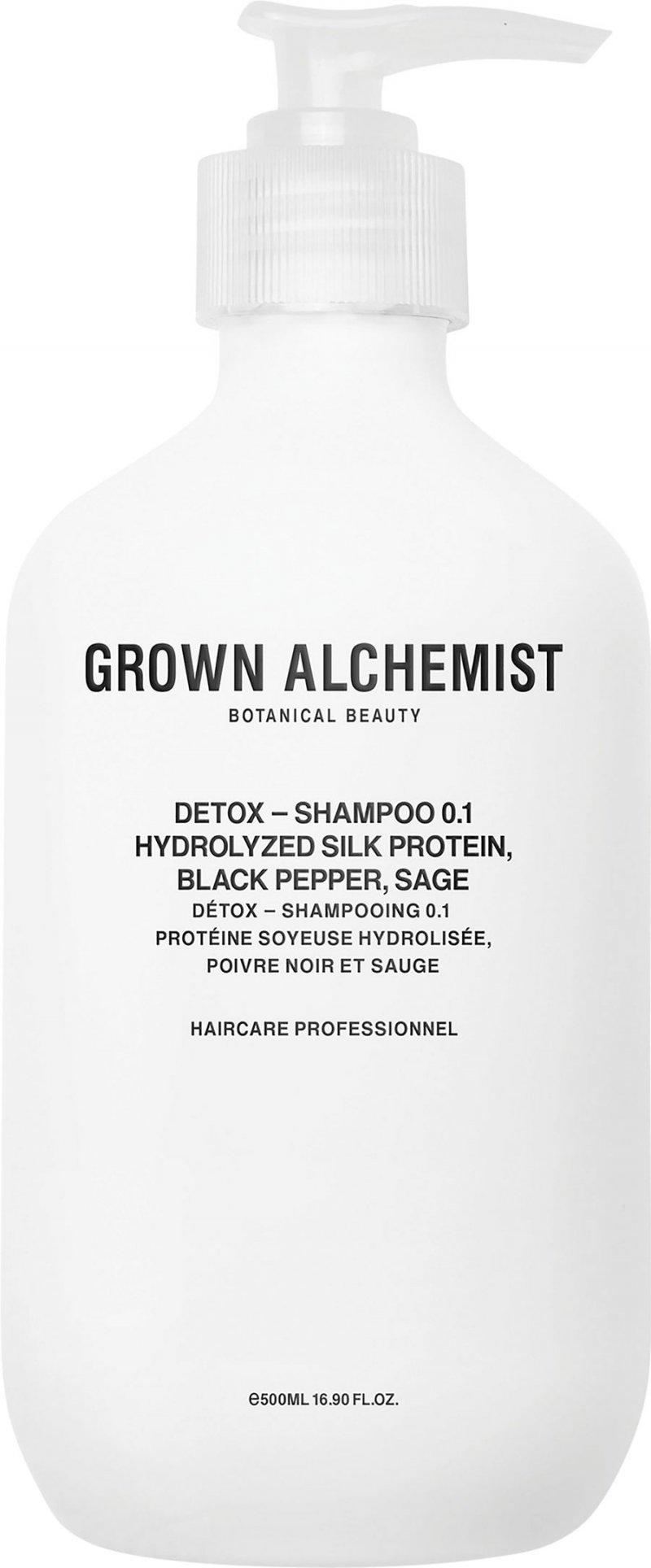 Image of   Grown Alchemist Shampoo - Detox 0.1 Hydrolized Sil Protein, Black Pepper, Sage