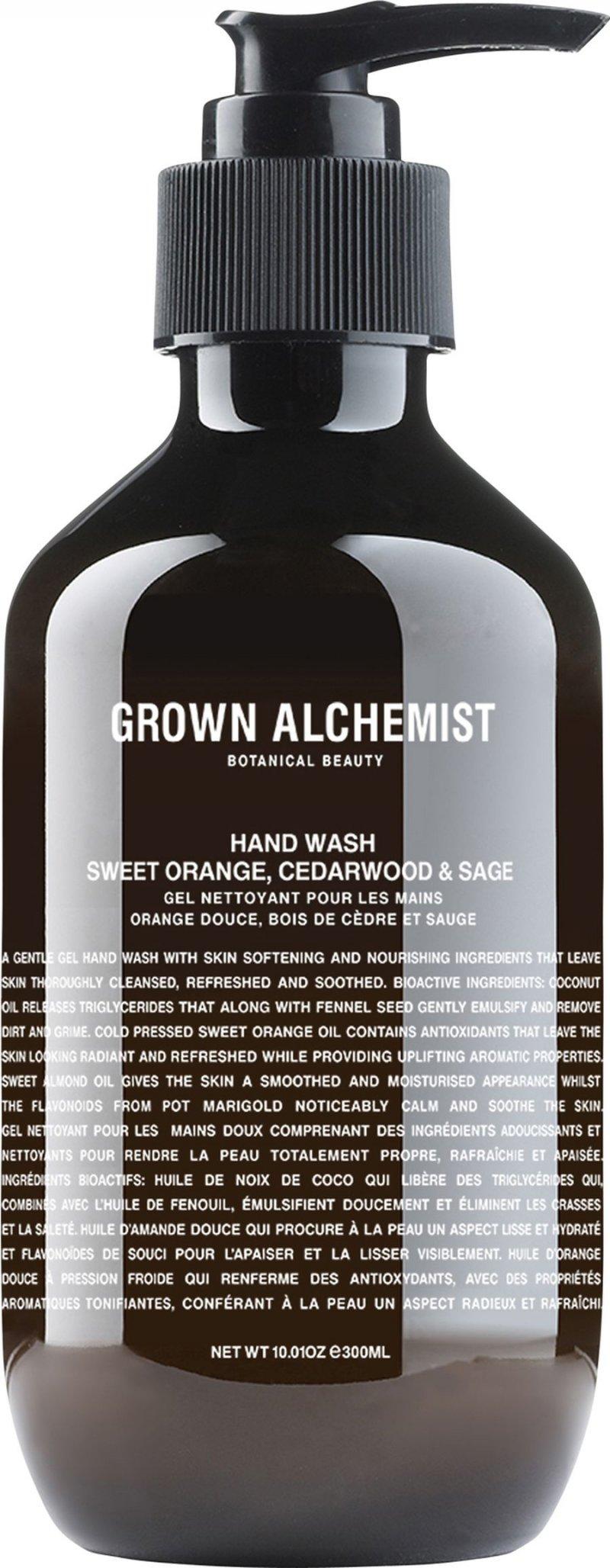 Image of   Grown Alchemist Flydende Håndsæbe - Hand Wash: Sweet Orange, Cedarwood & Sage 300 Ml
