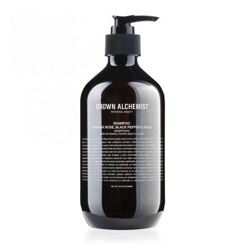 Image of   Grown Alchemist Shampoo - Damask Rose, Black Pepper & Sage 500 Ml