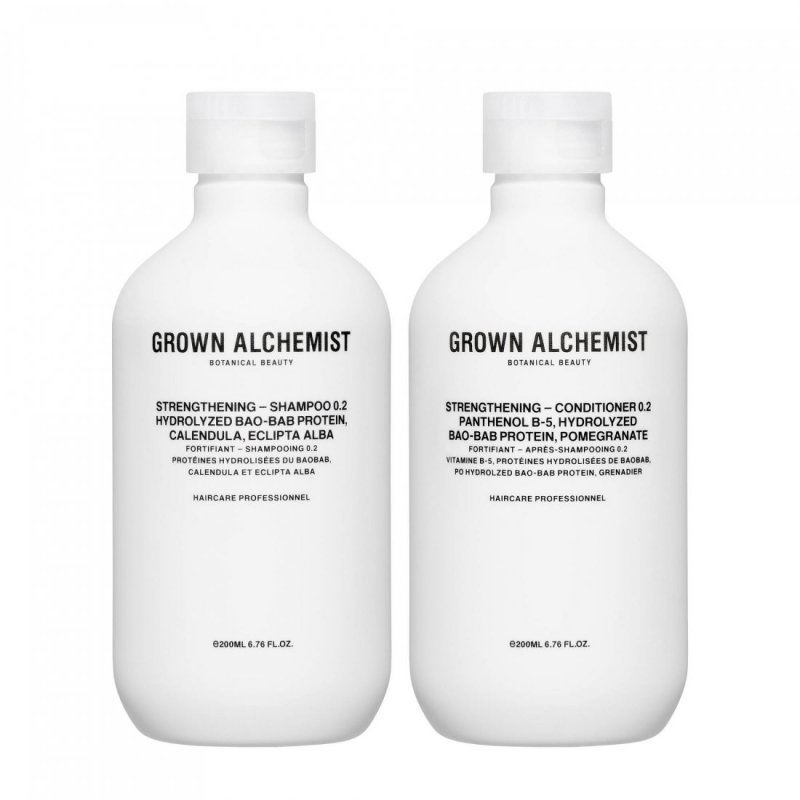 Image of   Grown Alchemist Shampoo & Conditioner - Strengthening Haircare Twinset 2x200 Ml