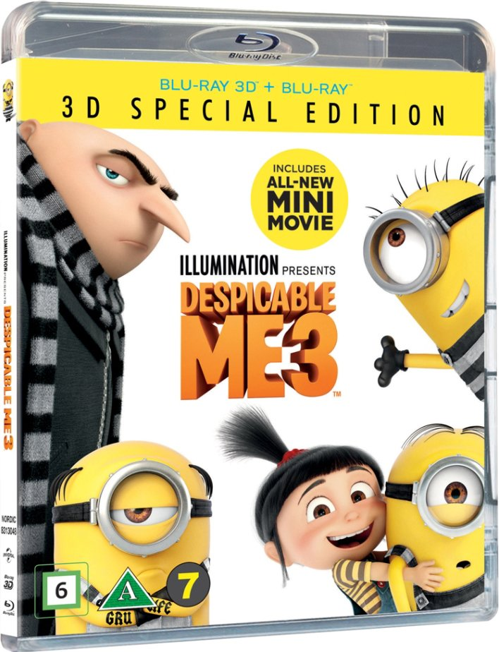 Image of   Grusomme Mig 3 / Despicable Me 3 - 3D Blu-Ray