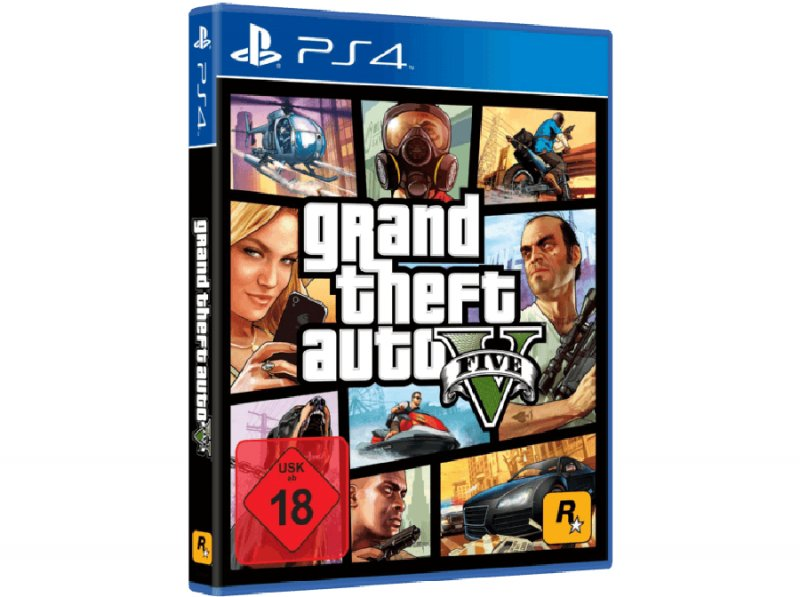 Image of   Gta 5 - Grand Theft Auto V (german) - PS4