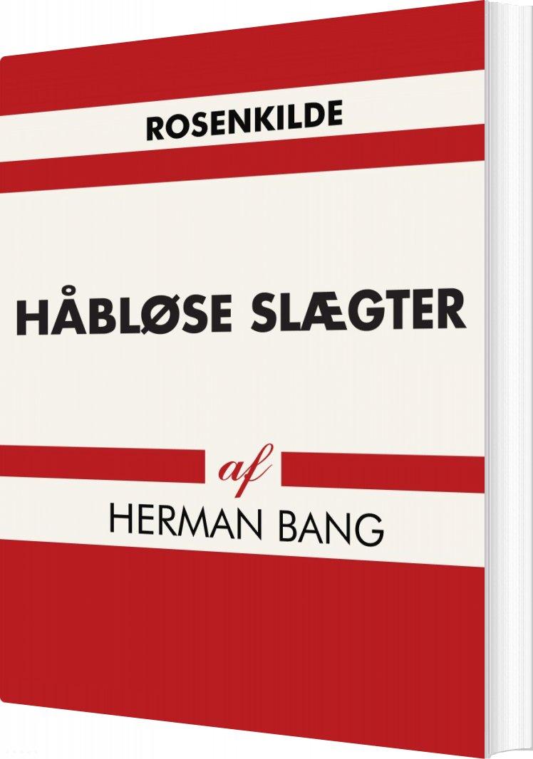 Image of   Håbløse Slægter - Herman Bang - Bog