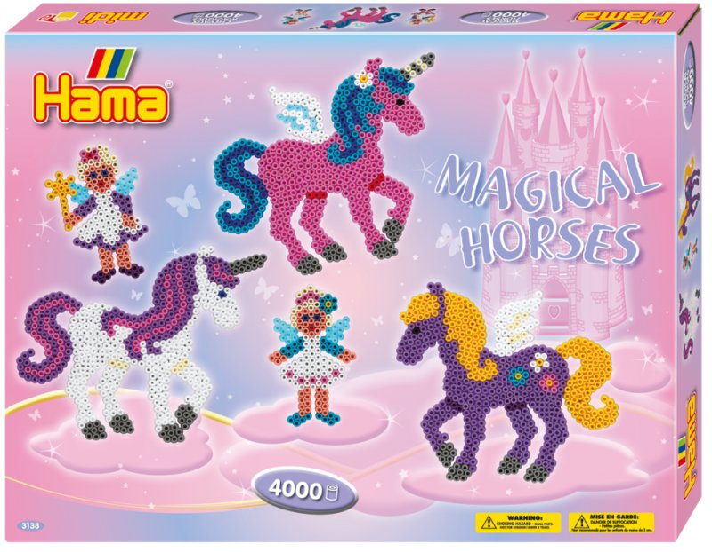 Hama Gaveæske Med Midi Perler - Magiske Heste