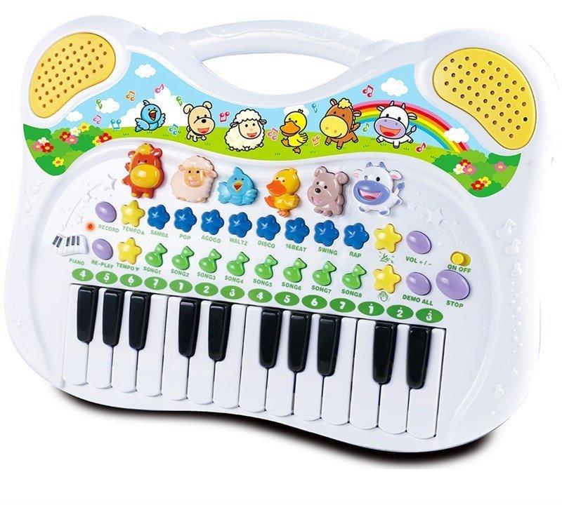 Image of Keyboard Legetøj Til Børn Med Dyrelyde - Happy Baby