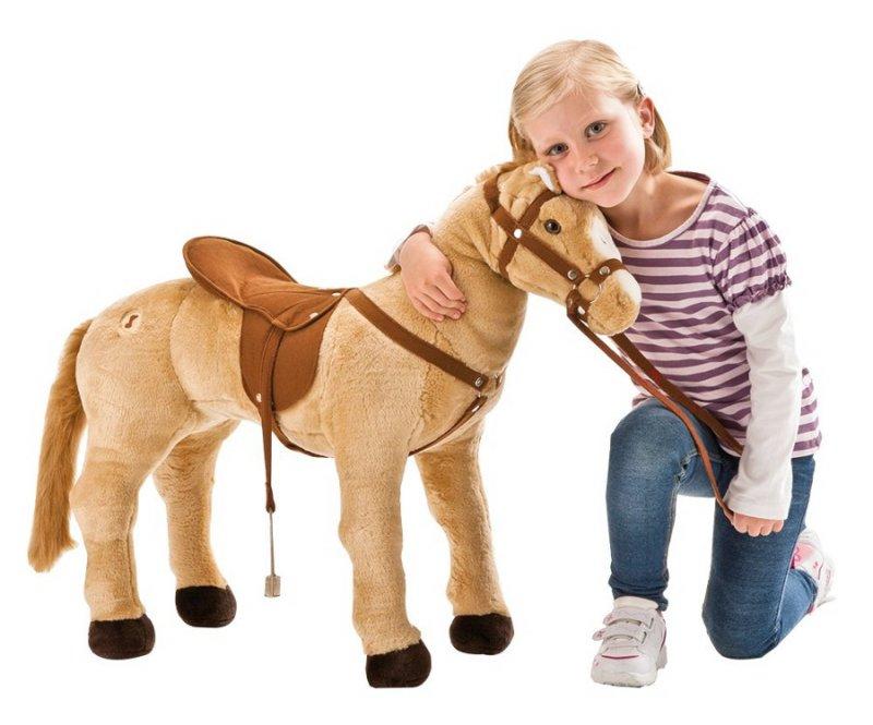Happy People - Kæmpe Heste Bamse Med Lyd - Maks. 100 Kg
