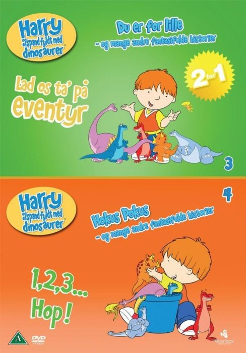 Image of   Harry Og En Spand Fyldt Med Dinosaurer 3 Og 4 - DVD - Film