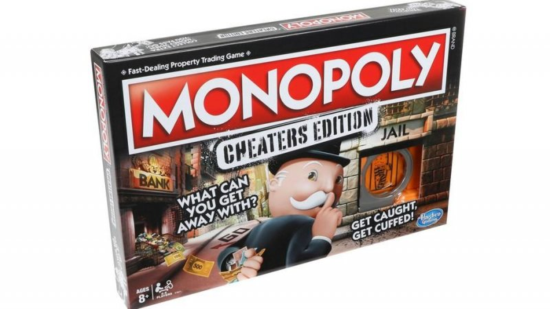 Monopoly: Cheaters Edition - Hasbro Brætspil - Dk/no