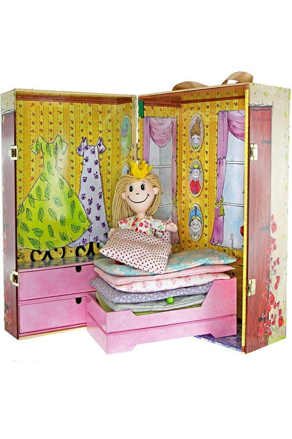 doll box, H.C. Andersen, Prinsessen på ærten, prinsesse på ærten, dukkehus, dukkehuse, dukkehuset