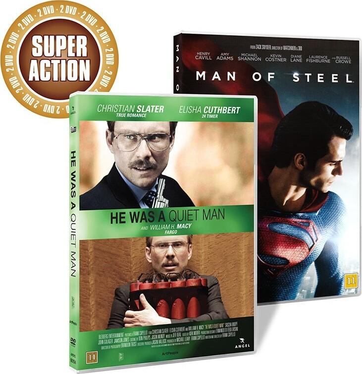 Image of   He Was A Quiet Man // Man Of Steel - DVD - Film