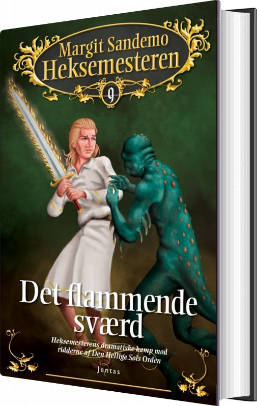 Heksemesteren 9 - Det Flammende Sværd - Margit Sandemo - Bog