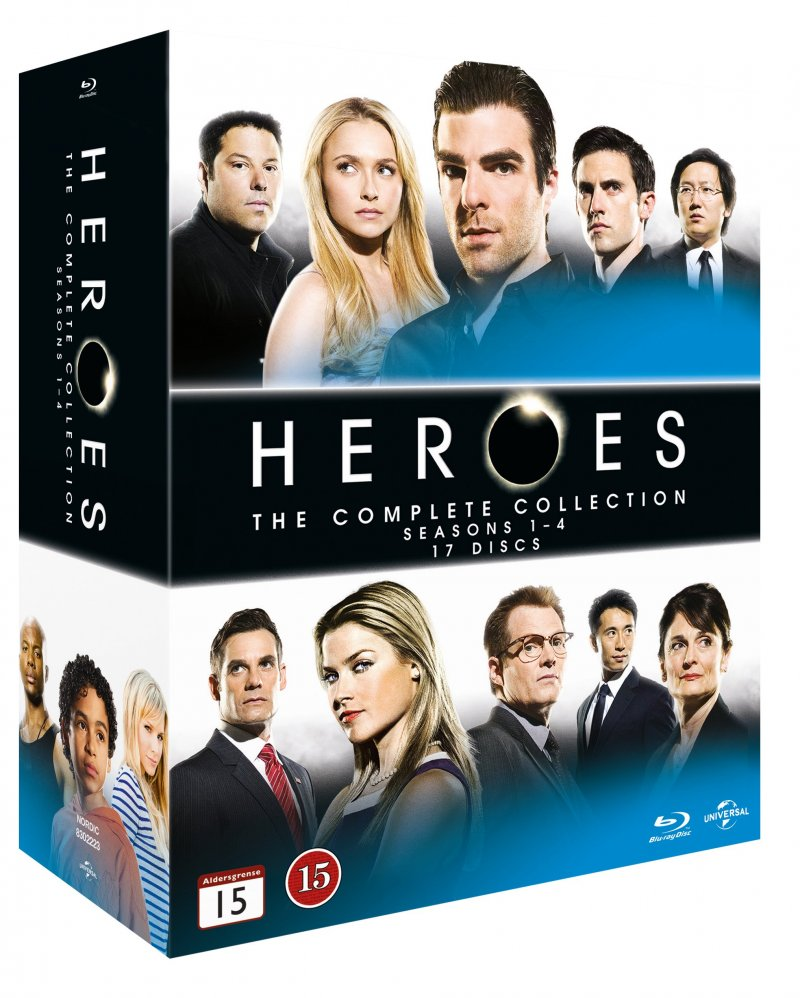 Image of   Heroes Blu-ray Box - Den Komplette Serie - Blu-Ray - Tv-serie
