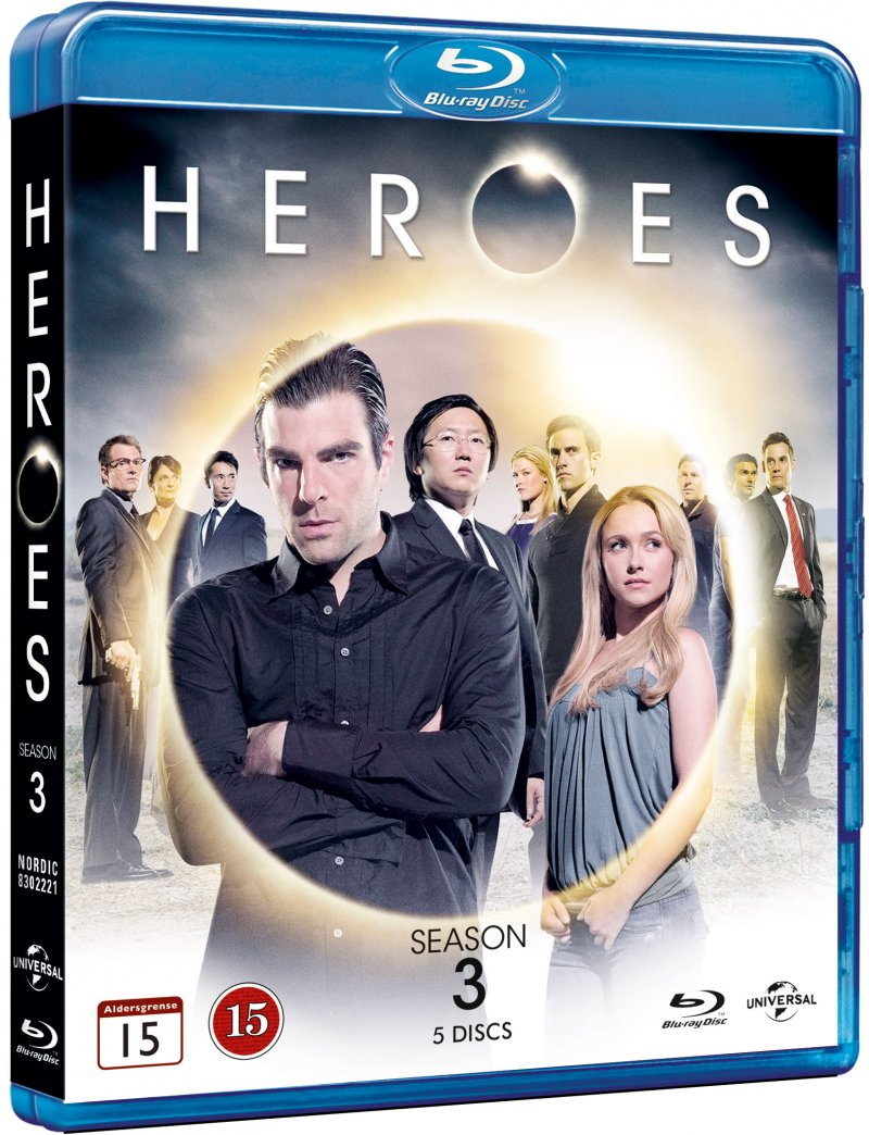 Image of   Heroes - Sæson 3 - Blu-Ray - Tv-serie