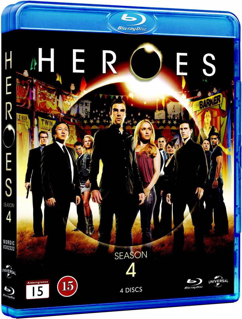 Image of   Heroes - Sæson 4 - Blu-Ray - Tv-serie