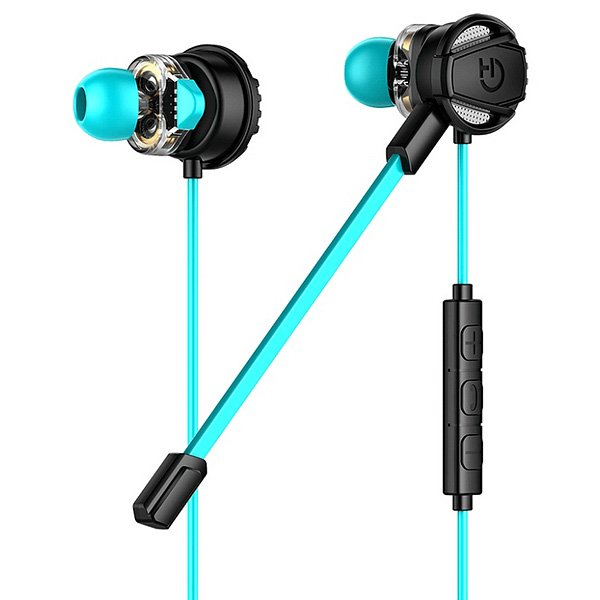 Image of   Hiditec In-ear Gaming Høretelefoner Med Mikrofon - Sort Blå