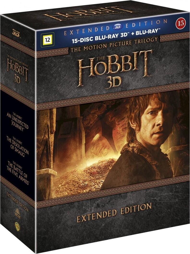 Hobbitten Trilogy - Hobbitten 1-3 - Extended - 3D Blu-Ray