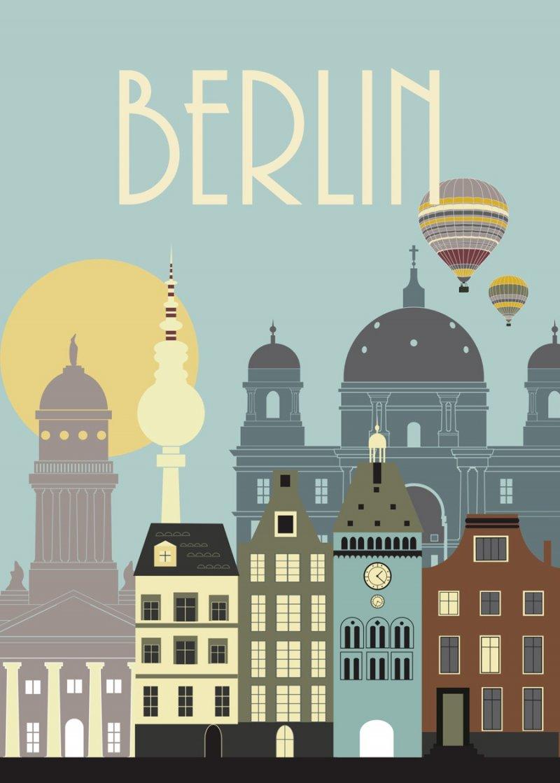 Image of   Hoei Denmark By Plakat - Berlin Plakat - 50 X 70 Cm