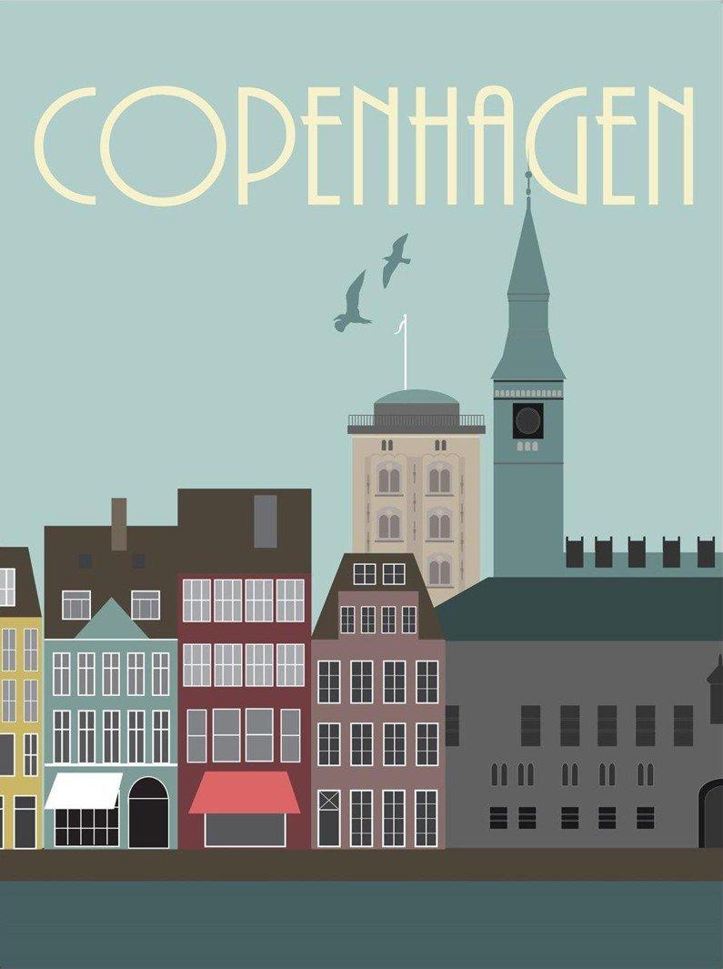 Image of   Hoei Danmark By Plakat - København - 50 X 70 Cm