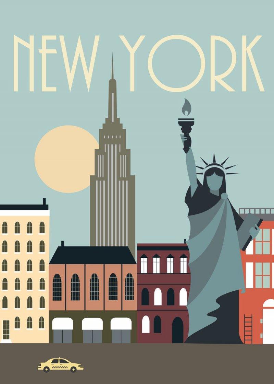 new york plakat poster hoei denmark by plakat 50 x 70 cm k b billigt her. Black Bedroom Furniture Sets. Home Design Ideas