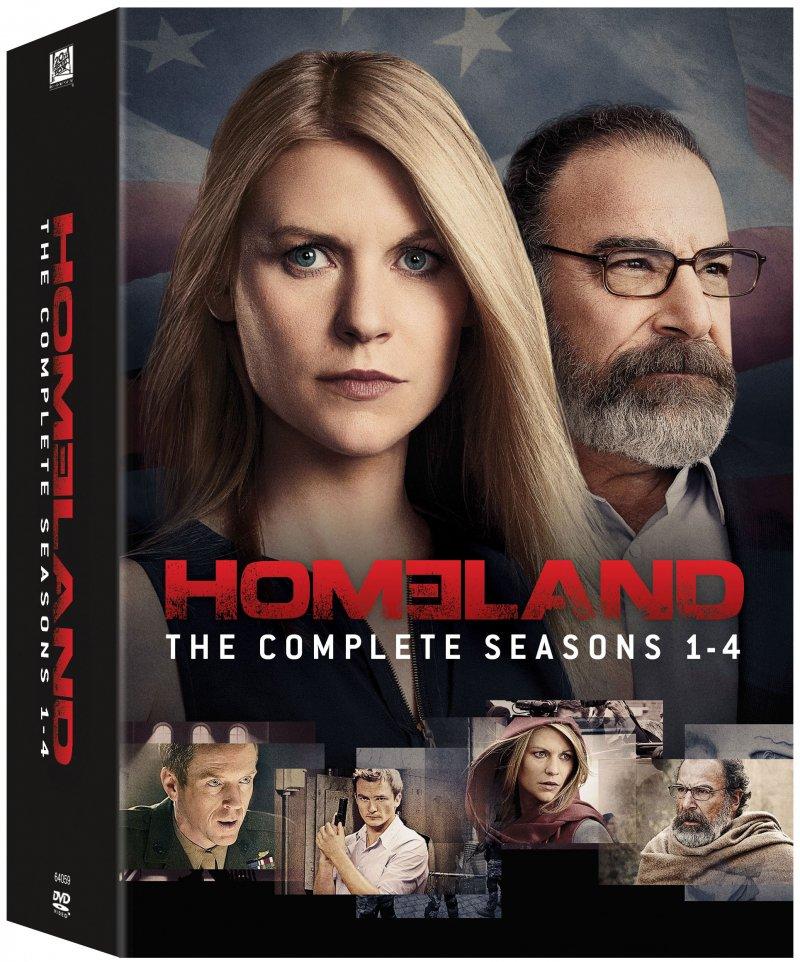 Homeland - Sæson 1-4 - DVD - Tv-serie