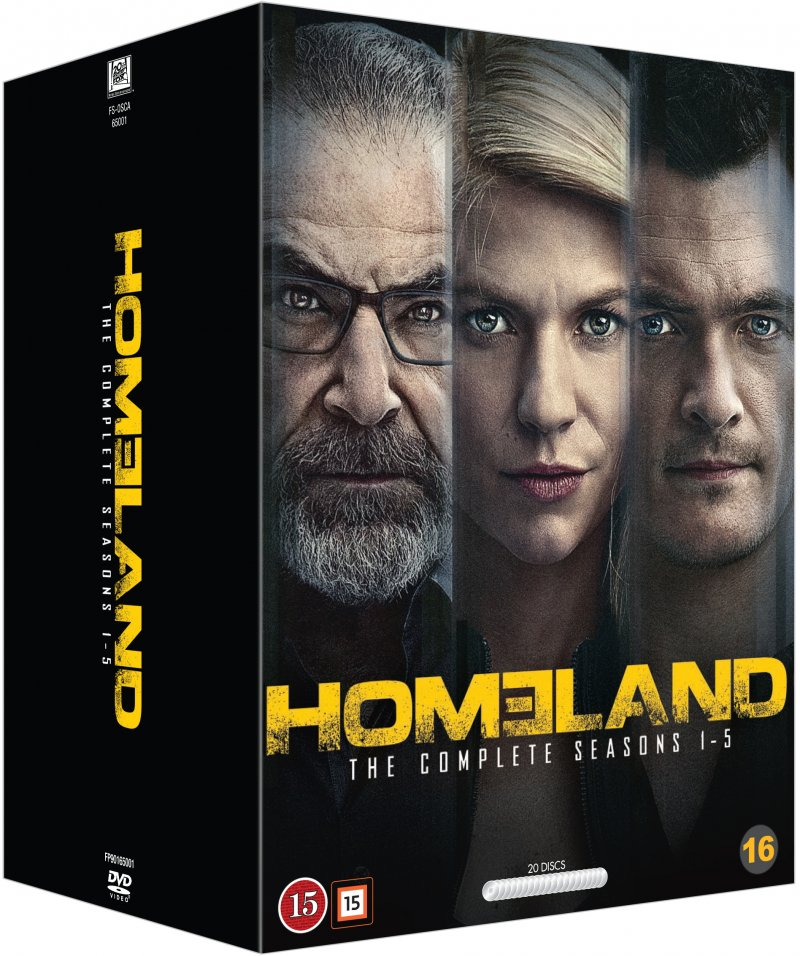 Homeland - Sæson 1-5 - DVD - Tv-serie