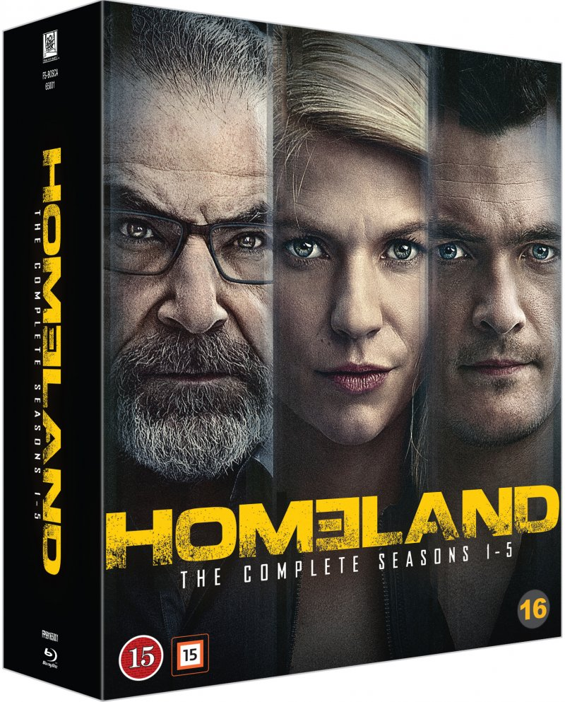 Homeland - Sæson 1-5 - Blu-Ray - Tv-serie