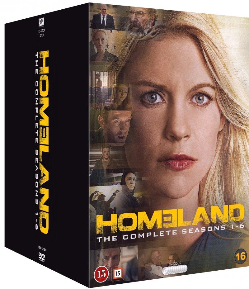 Homeland: Box - Sæson 1-6 - DVD - Tv-serie