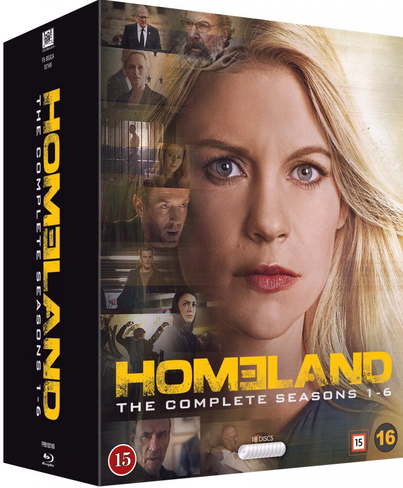 Homeland - Sæson 1-6 - Blu-Ray - Tv-serie