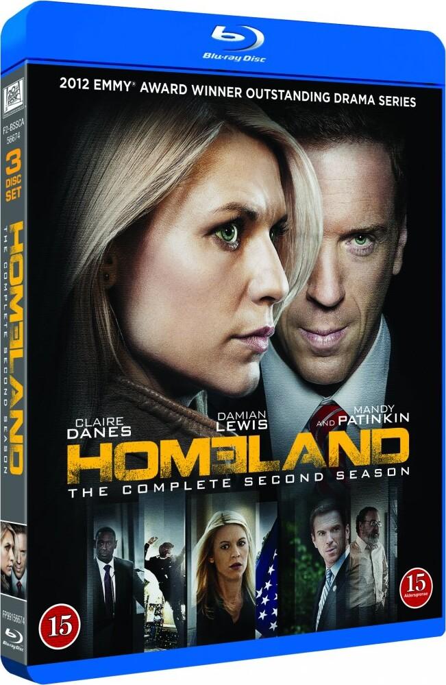 Image of   Homeland - Sæson 2 - Blu-Ray - Tv-serie