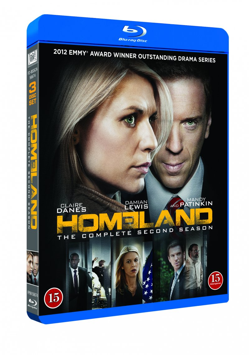 Image of   Homeland - Sæson 2 - Blu-Ray - Tv-serie