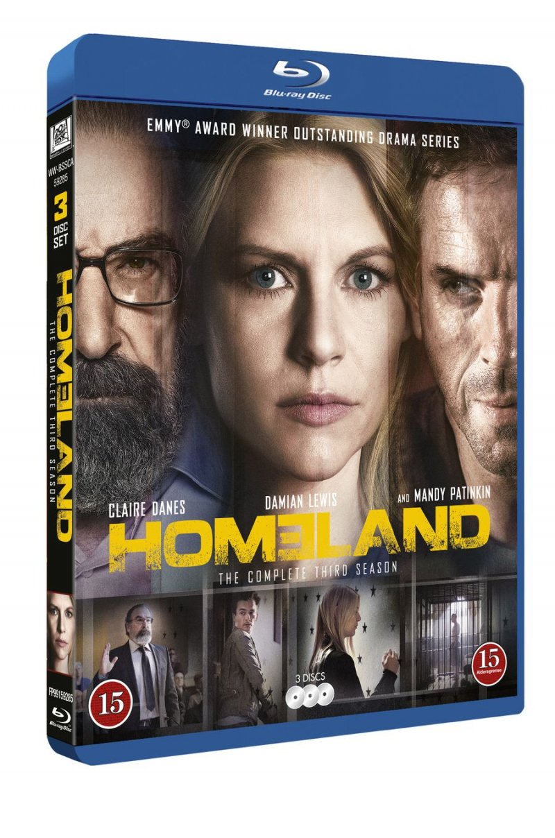 Image of   Homeland - Sæson 3 - Blu-Ray - Tv-serie