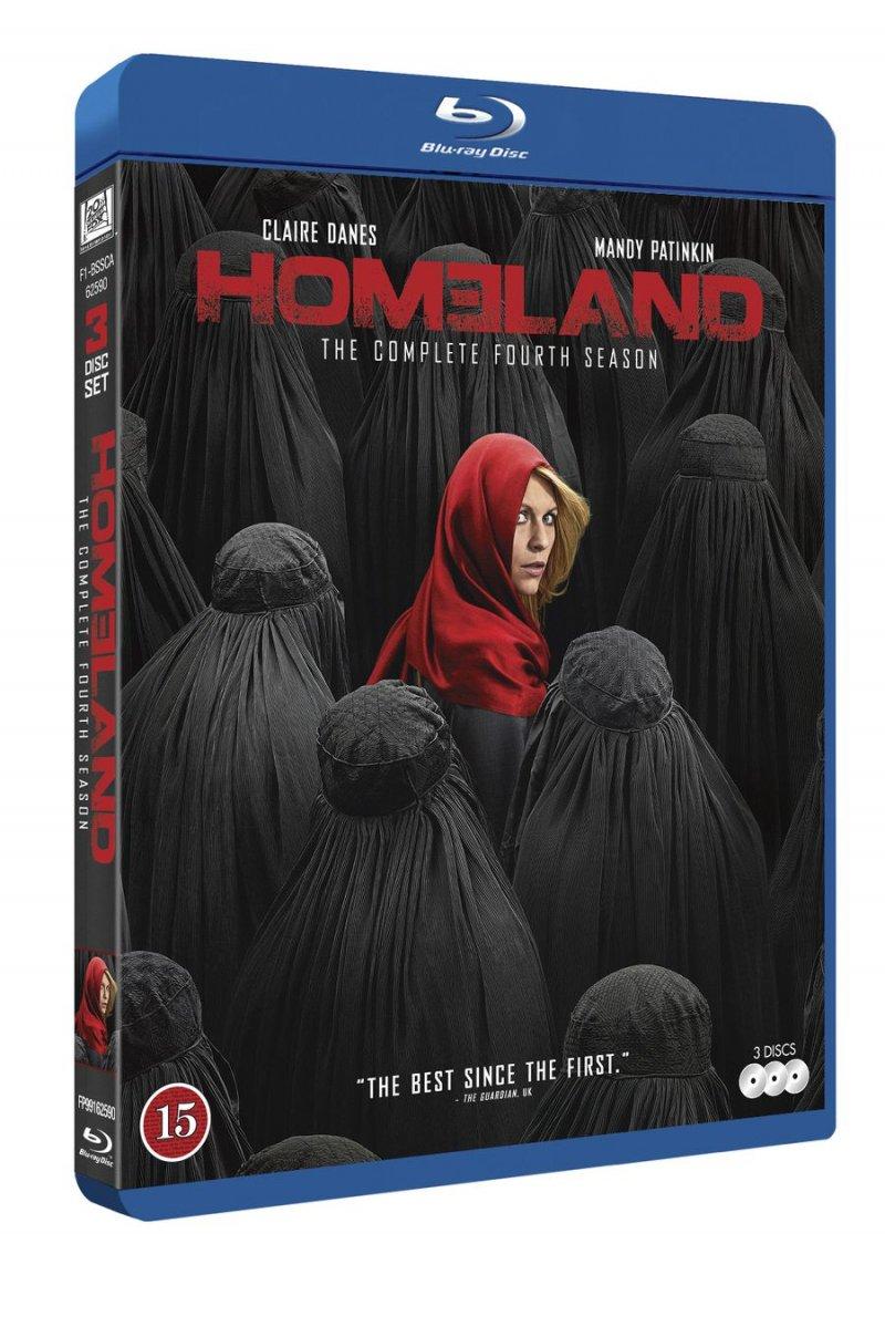 Image of   Homeland - Sæson 4 - Blu-Ray - Tv-serie