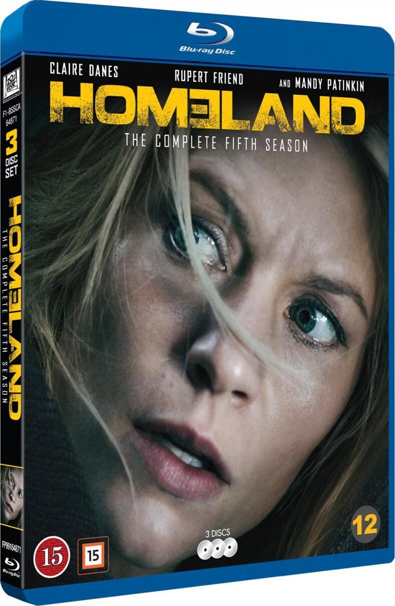 Image of   Homeland - Sæson 5 - Blu-Ray - Tv-serie