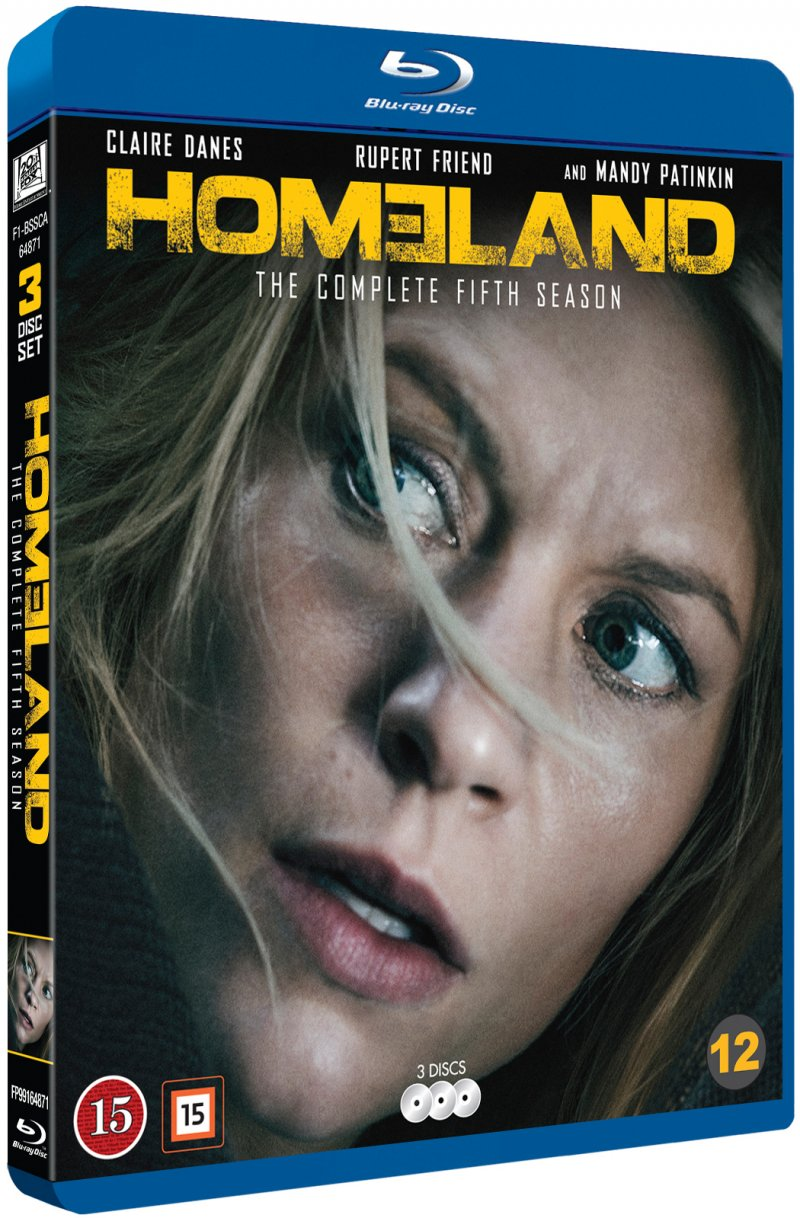 Image of   Homeland - Sæson 5 - Blu-Ray - Tv-serie
