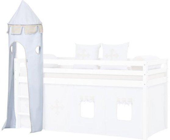 Hoppekids - Tårn Til Halvhøj Seng - Lyseblå