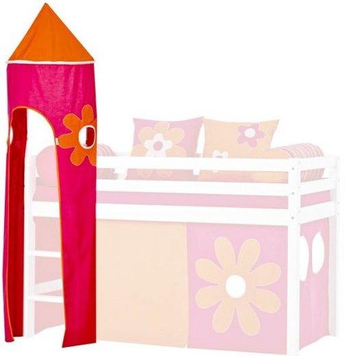 Hoppekids - Tårn Til Halvhøj Seng - Pink / Orange