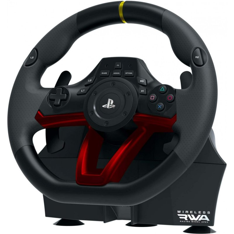 Image of   Hori - Rwa Racing Wheel Apex - Trådløs Rat Til Ps4 Og Pc - Sort Rød