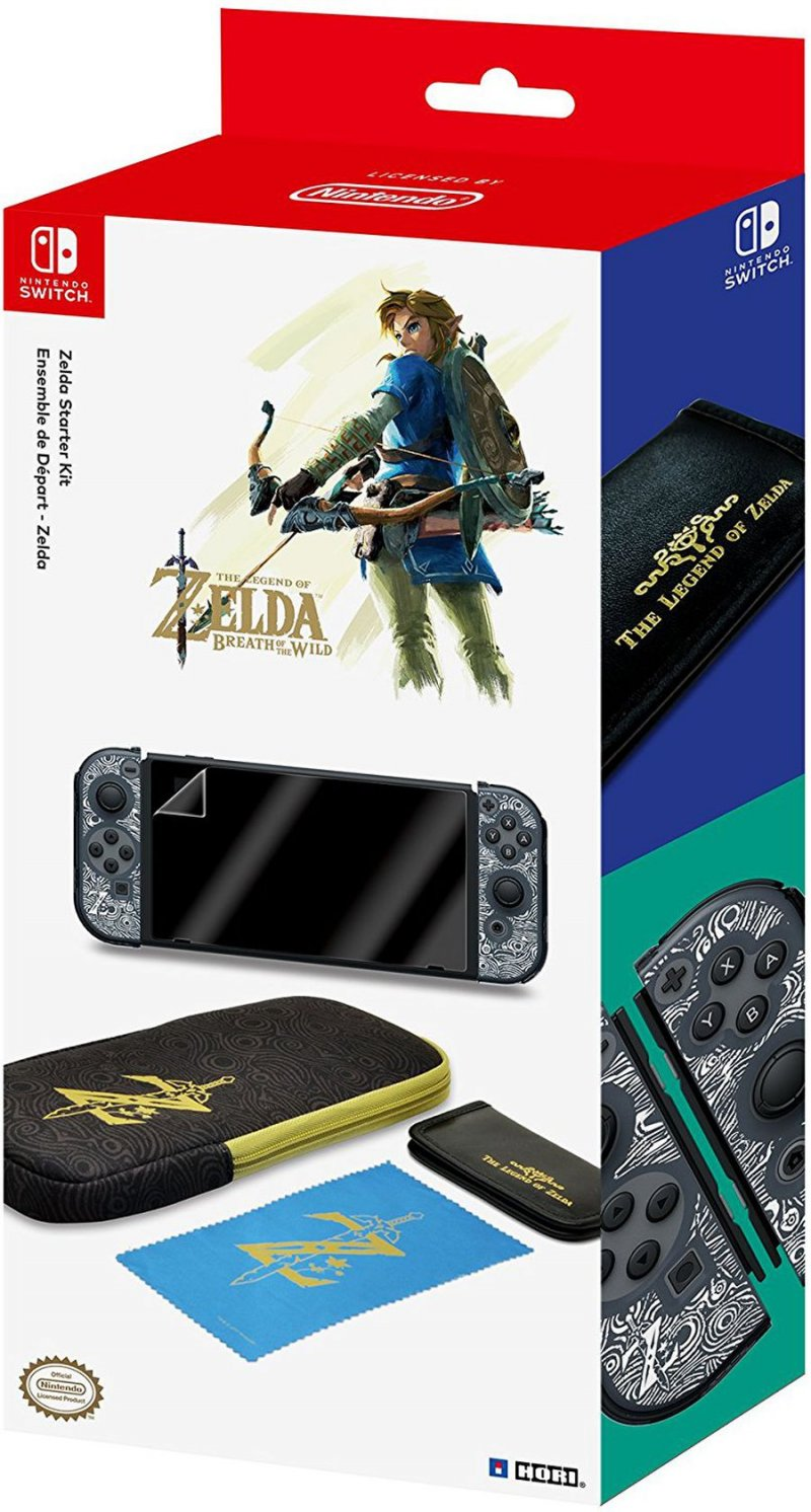 Image of   Hori Zelda Breath Of The Wild Starter Kit - Tilbehørssæt Til Nintendo Switch