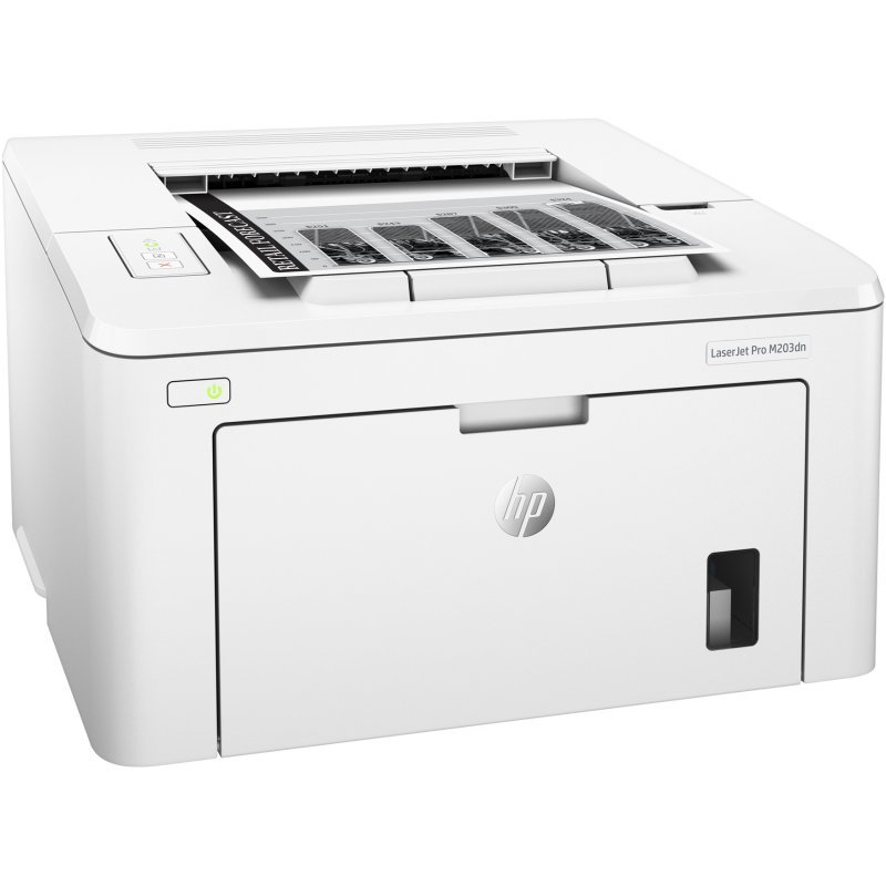 Image of   Hp Hewlett Packard Laserjet Pro Printer M203dn - Sort Hvid Print