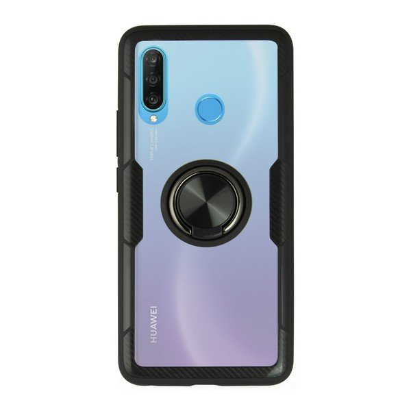 Image of   Huawei P30 Lite - Cover 360 Ring - Sort