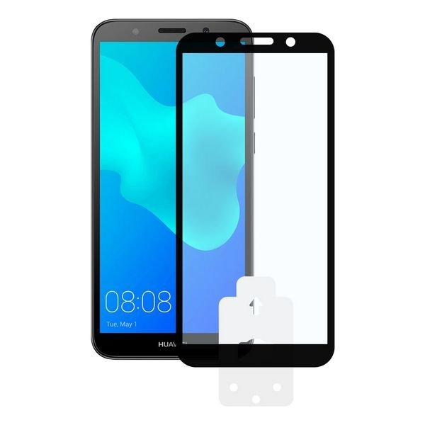 Image of   Huawei Y5 2018 - Hærdet Glas Beskyttelse - 9h - 0,3 Mm - Sort