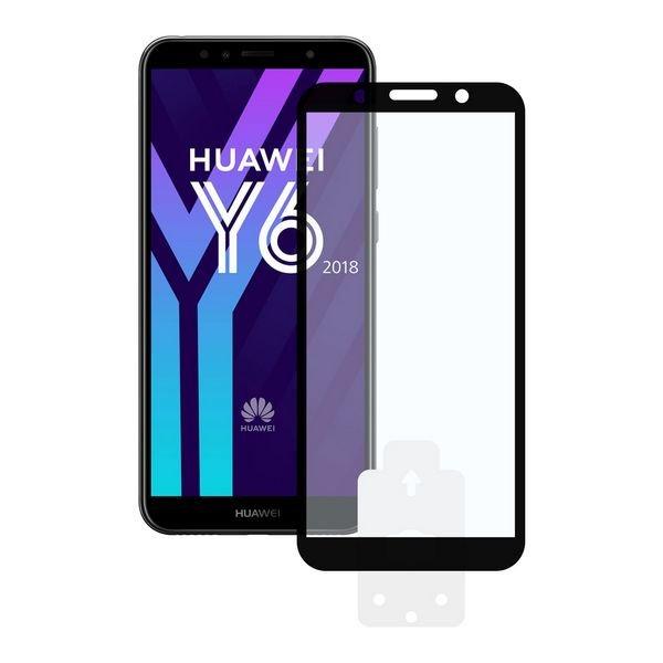 Image of   Huawei Y6 2018 - Hærdet Glas Beskyttelse - 9h - 0,3 Mm - Sort