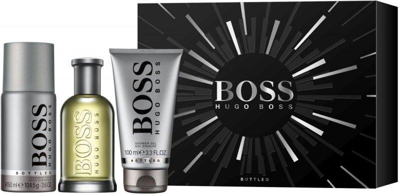 Image of   Hugo Boss - Boss Bottled Edt 100 Ml + Deo Spray 150 Ml + Shower Gel 100 Ml Gaveæske