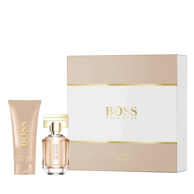 Image of   Hugo Boss - The Scent For Her 100 Ml / Shower Gel 100 Ml - Gavesæt