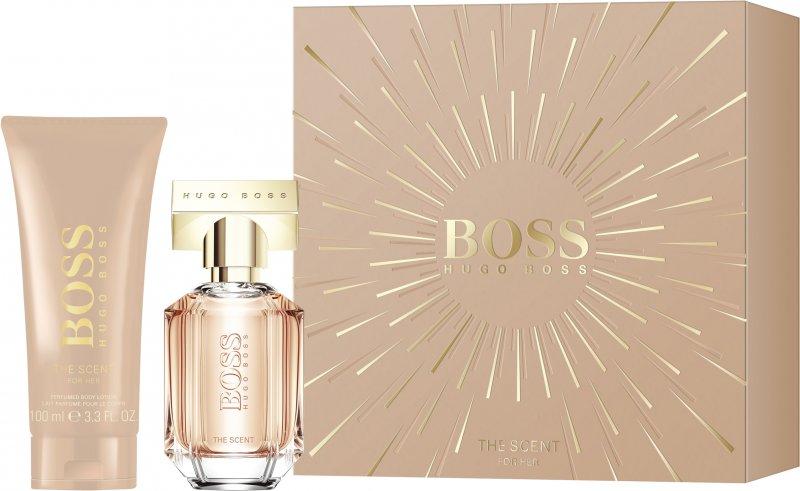Image of   Hugo Boss Parfume - The Scent For Her Eau De Parfum 30 Ml + Body Lotion 100 Ml - Gavesæt