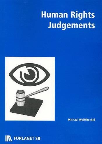 Image of   Human Rights Judgement - Michael Wolffhechel - Bog