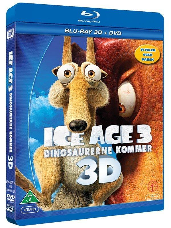 Image of   Ice Age 3 - Dinosaurerne Kommer (3d Blu-ray+dvd) -
